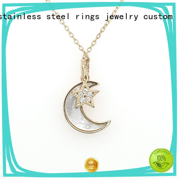 BEYALY sterling silver circle pendant necklace for business