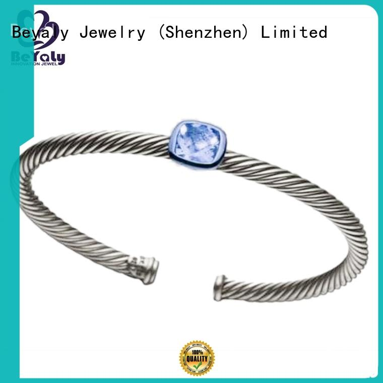 BEYALY Custom sterling cuff bracelets factory for business gift
