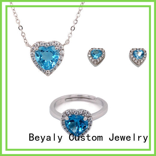 BEYALY blue and silver jewelry sets company for business gift