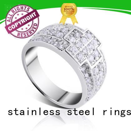Latest platinum ring designs inlay Supply for wedding