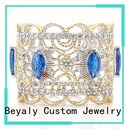 BEYALY nice quality black crown promise rings wholesale for women
