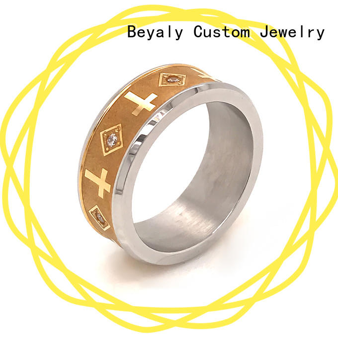 Wholesale popular solitaire engagement rings ring factory for men