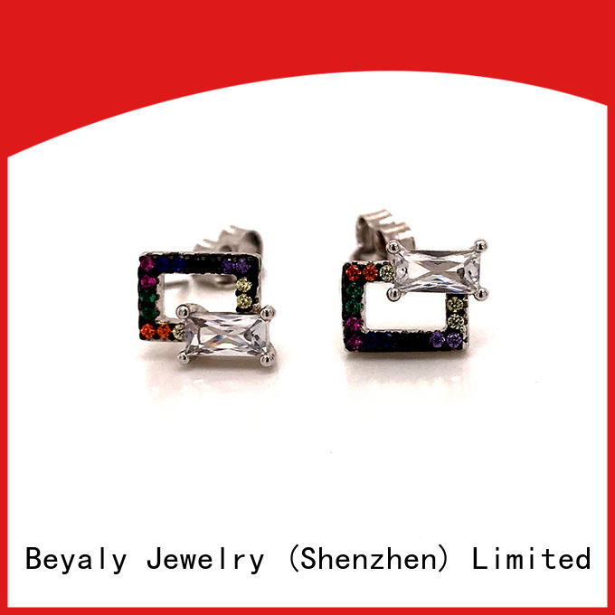 BEYALY unique pearl diamond earrings white gold Suppliers for advertising promotion