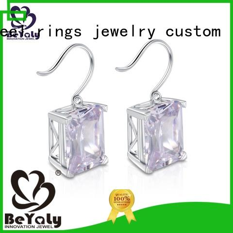 BEYALY classic small silver hoop earrings sets for exhibition