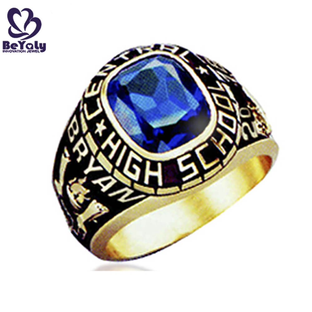 BEYALY plated gold american college rings for business for school-1