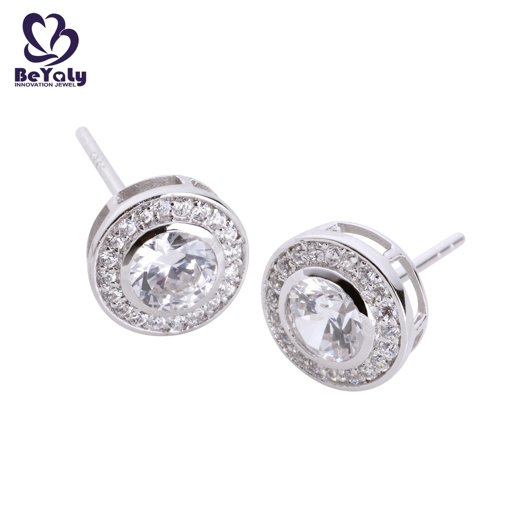 BEYALY small silver circle stud earrings company for business gift-1
