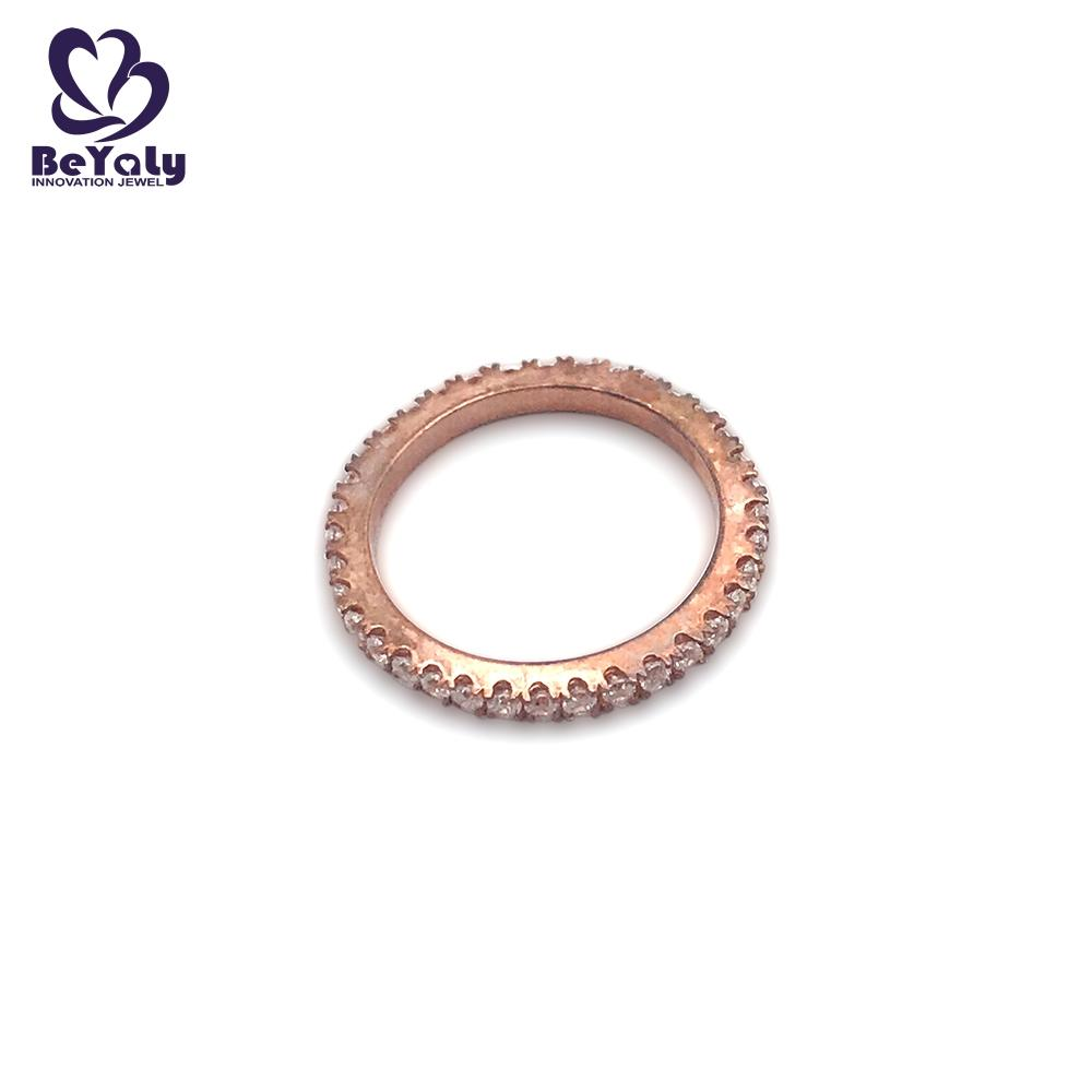 Full pave setting AAA cubic zircon rose gold ring