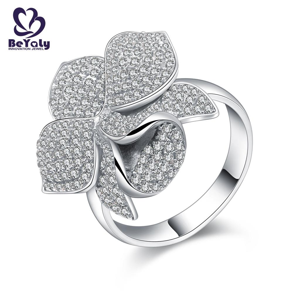 product-BEYALY-Platinum plating micro pave setting cz flower ring jewelry-img