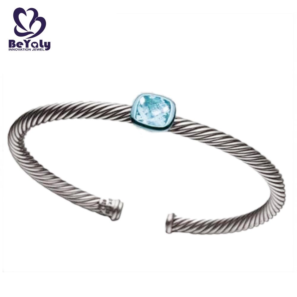 product-BEYALY-Simple adjustable screw thread bangle with a big stone-img