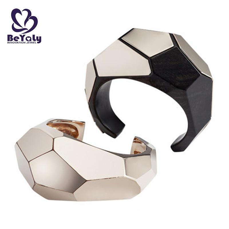 Fashion Design White Black Ceramic 925 Sterling Silver Bracelet Bangle