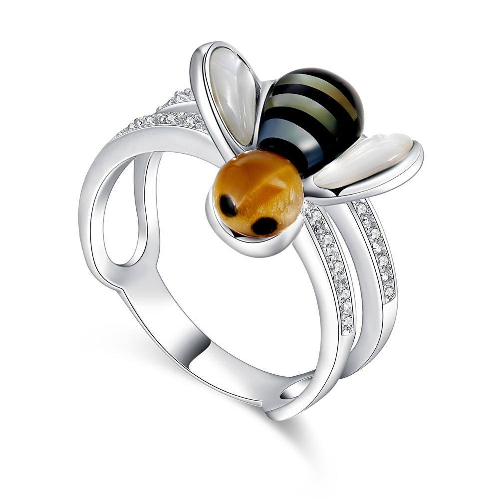 2019 Fashion Design Jewelry 925 Silver Ring Bee Rings Send Girl Gift
