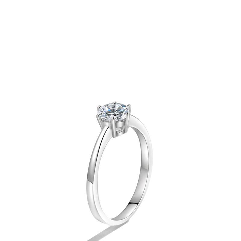 Wholesale Fashion Silver Jewelry 3 Carat Diamond Ladies Ring