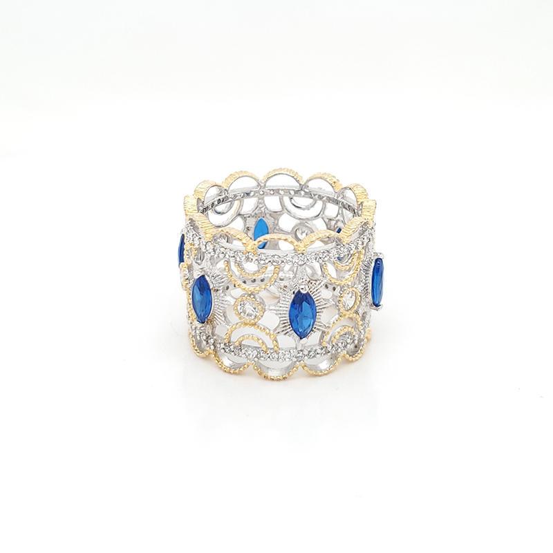 Royal ring with blue gemstone