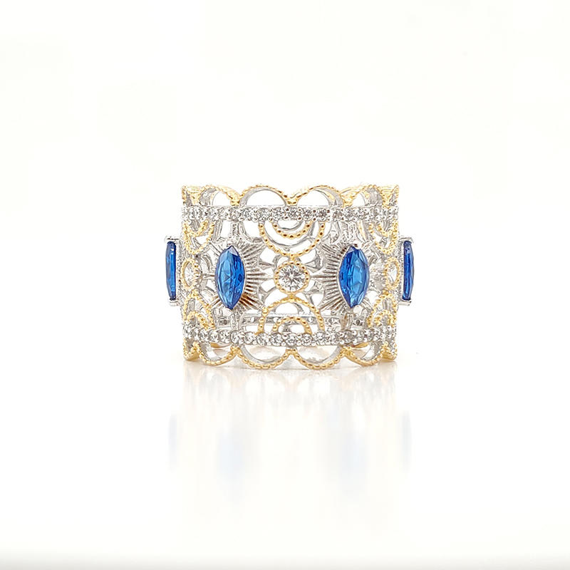 Royal ring with blue gemstone