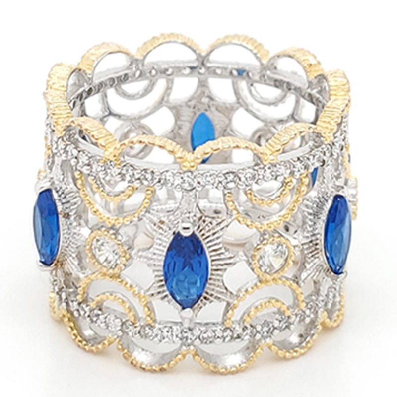 product-BEYALY-Royal crown type ring with blue gemstone-img