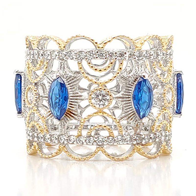 BEYALY Wholesale real gold princess crown ring company for wedding-1