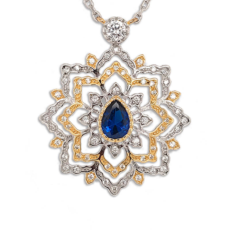 New design gold plating crystal jewelry pendants for women's