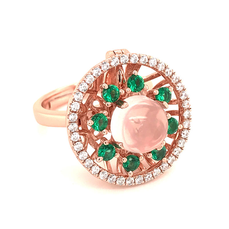 Custom made rose gold plating ring pendant