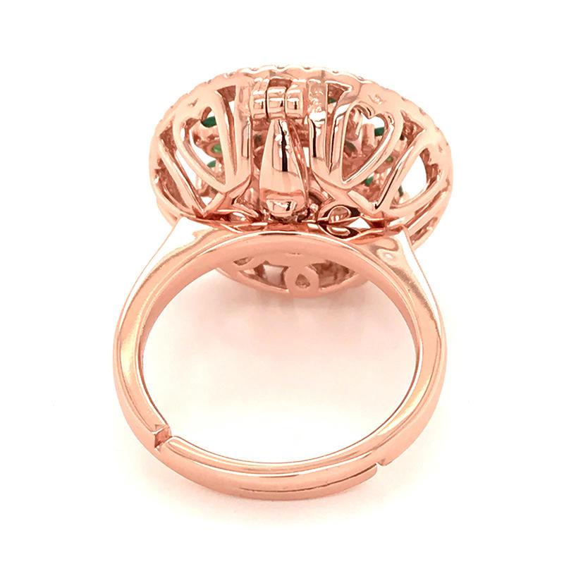 product-Custom made rose gold plating ring pendant-BEYALY-img-1
