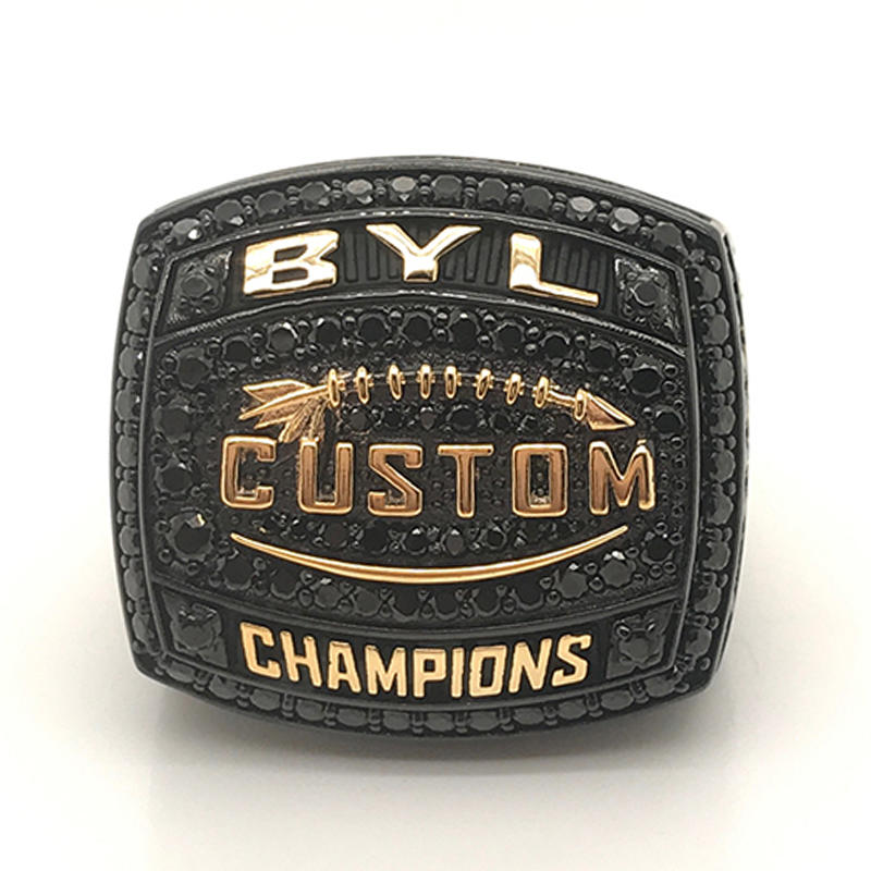 Custom made black plating championship ring