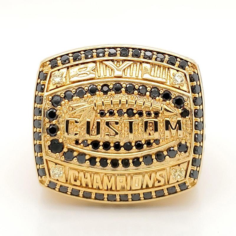 China jewelry manufacturer custom made brass championship ring
