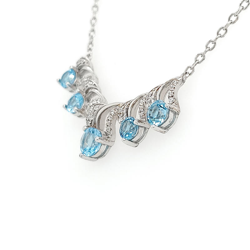 Fashion costume jewelry wholesale silver the most beautiful necklace pendant