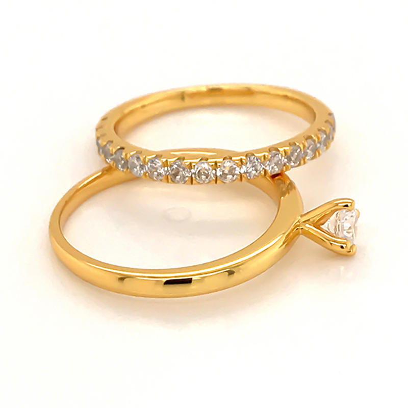 product-Simplest design ring set with 18k gold plating-BEYALY-img-1