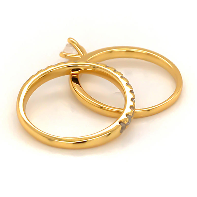 product-BEYALY-Simplest design ring set with 18k gold plating-img