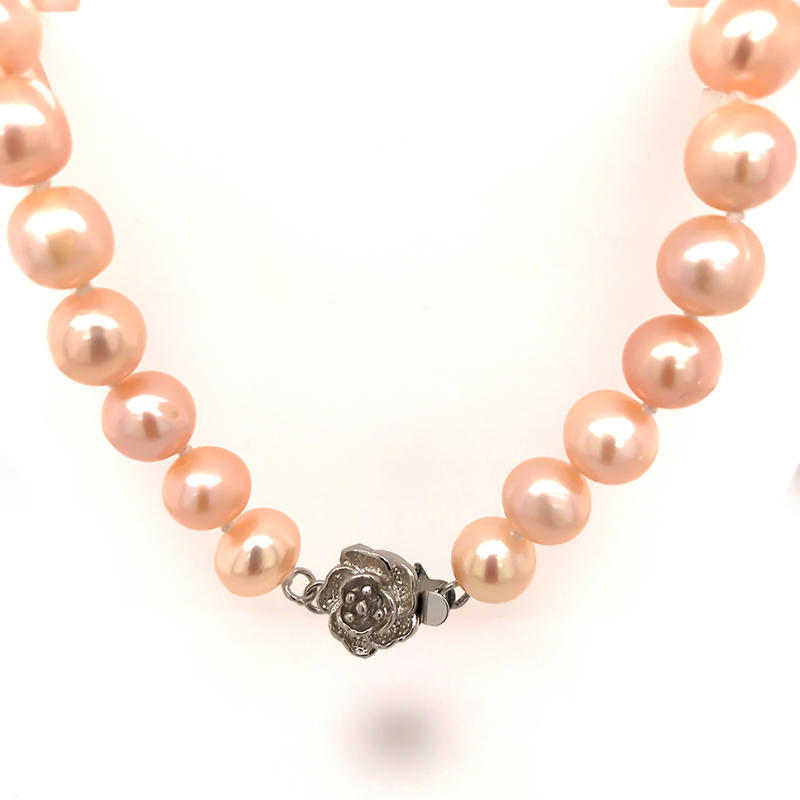 Beautiful pink pearl nacklace charm jewelry for women