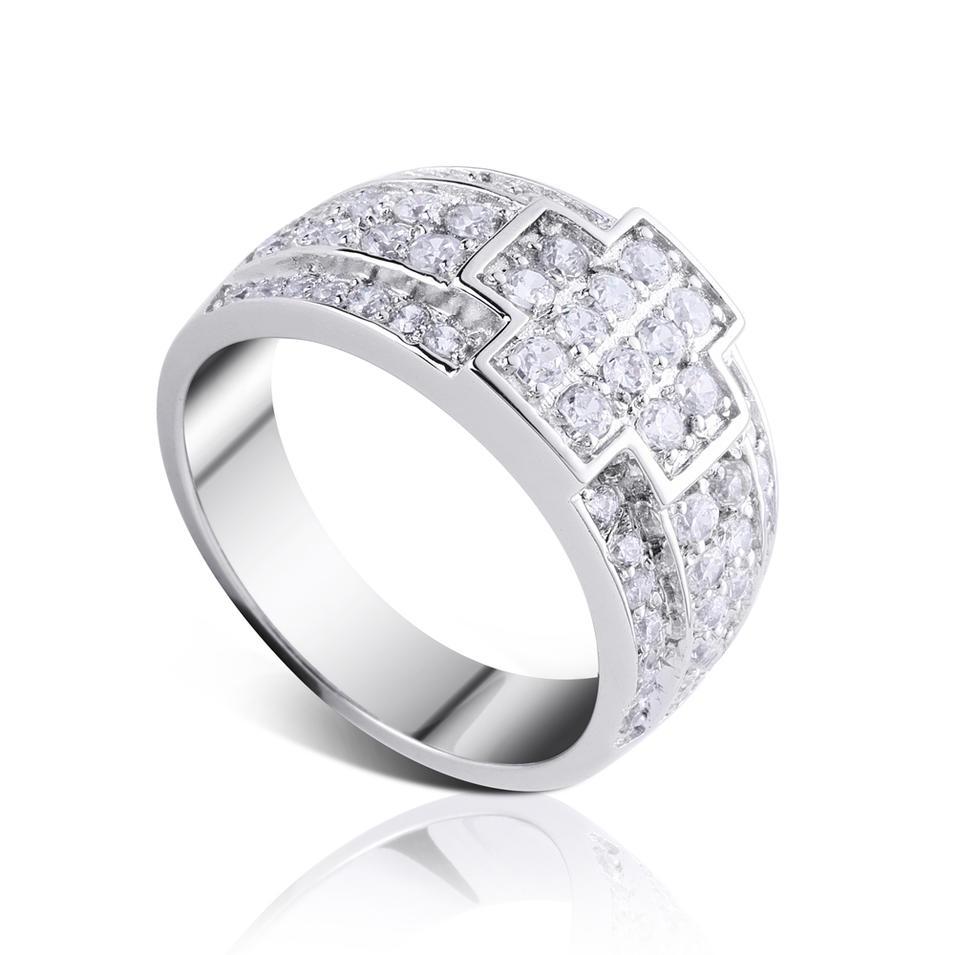 sterling silver zircon cross ring 925 silver custom ring engraving