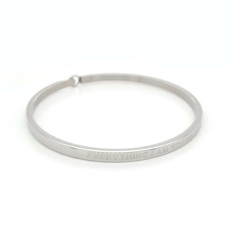 product-Custom made name stainless steel bracelet bangle-BEYALY-img-1
