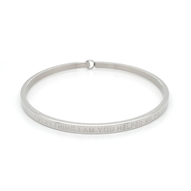 Custom made name stainless steel bracelet bangle