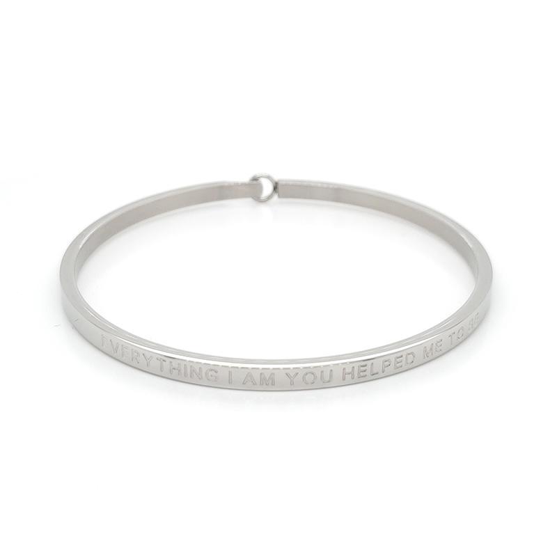 Custom made name stainless steel bracelet bangle