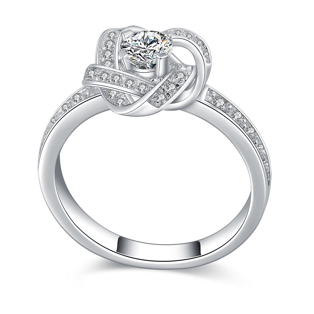 Elegant design 925 sterling silver good quality zircon ring