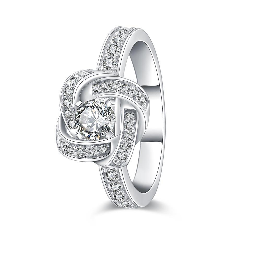 Elegant design 925 sterling silver good quality zircon ring