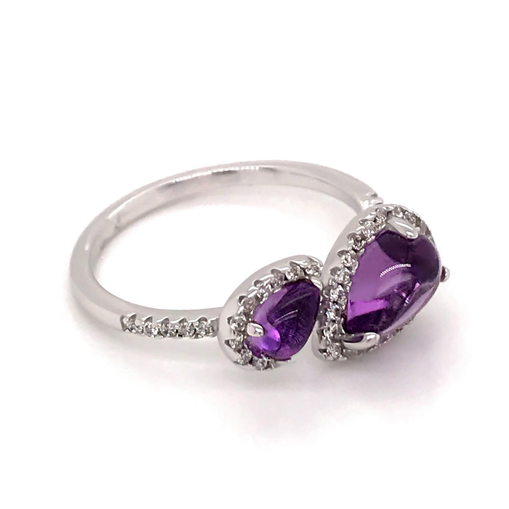 product-BEYALY-Simple silver amethyst artificial natural diamond ring-img
