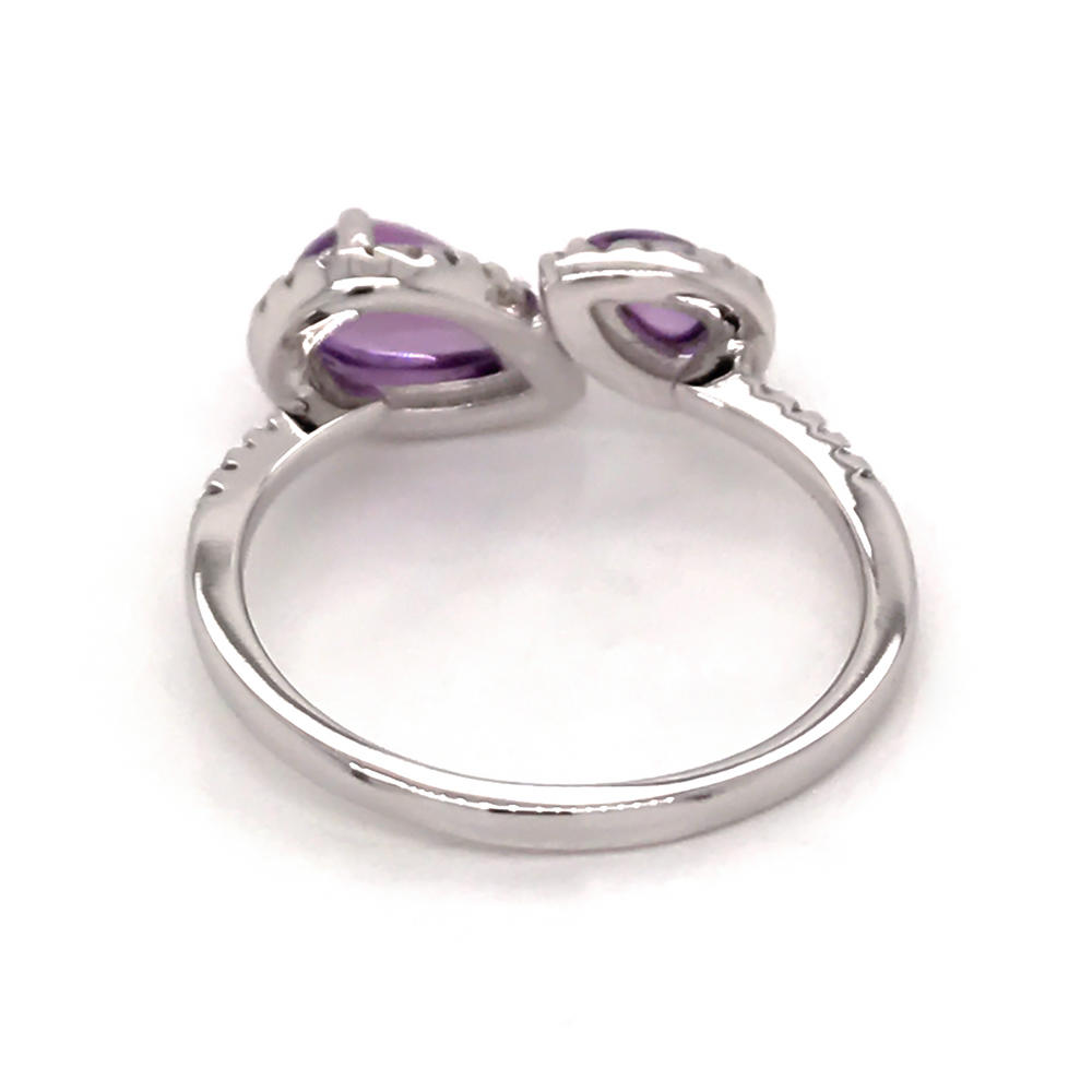product-Simple silver amethyst artificial natural diamond ring-BEYALY-img-1