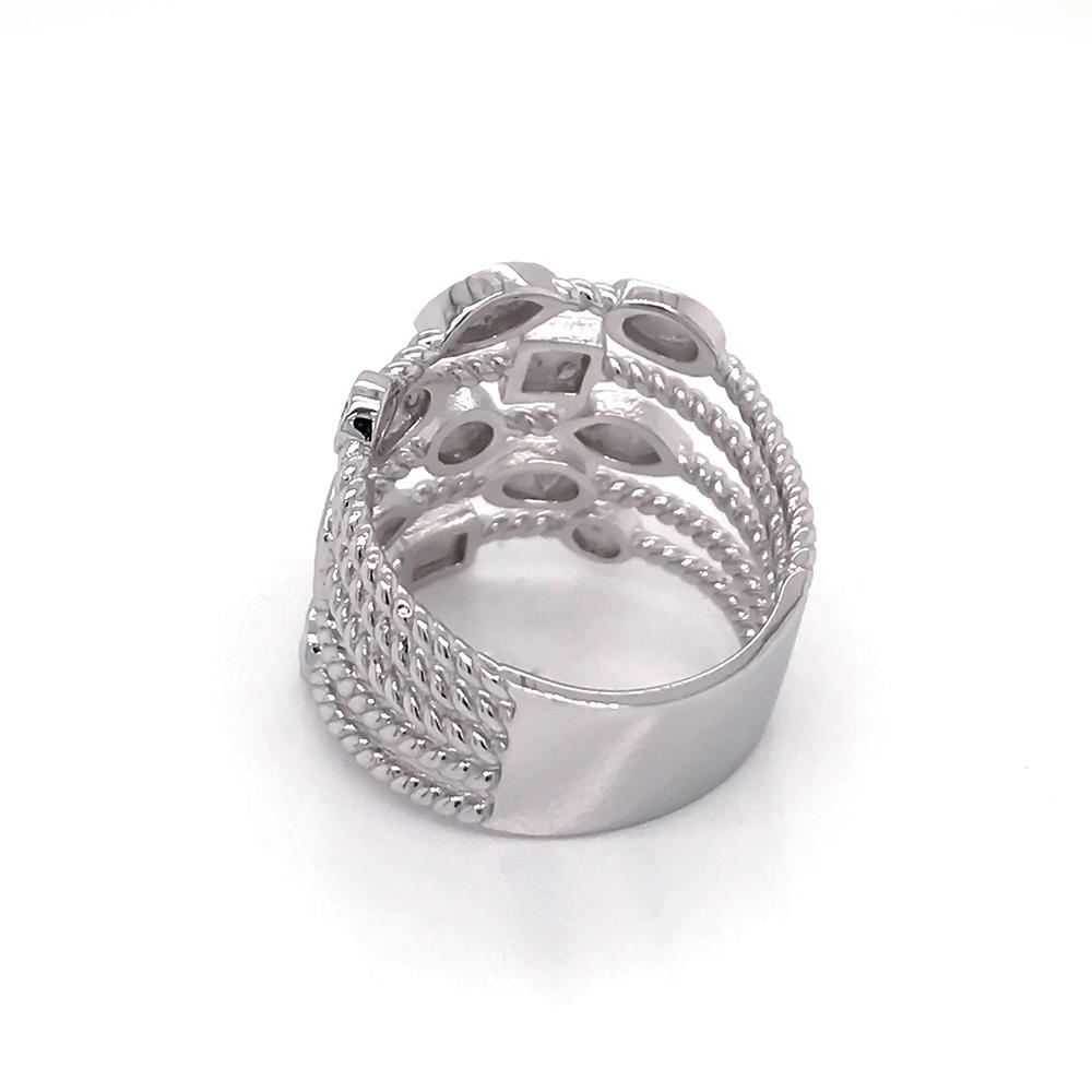 product-BEYALY-Fashion women engagement jewelry silver multi layer Ring-img