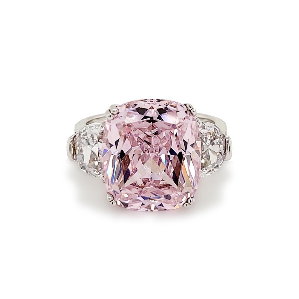 product-Luxury pink gemstone silver ring-BEYALY-img-1