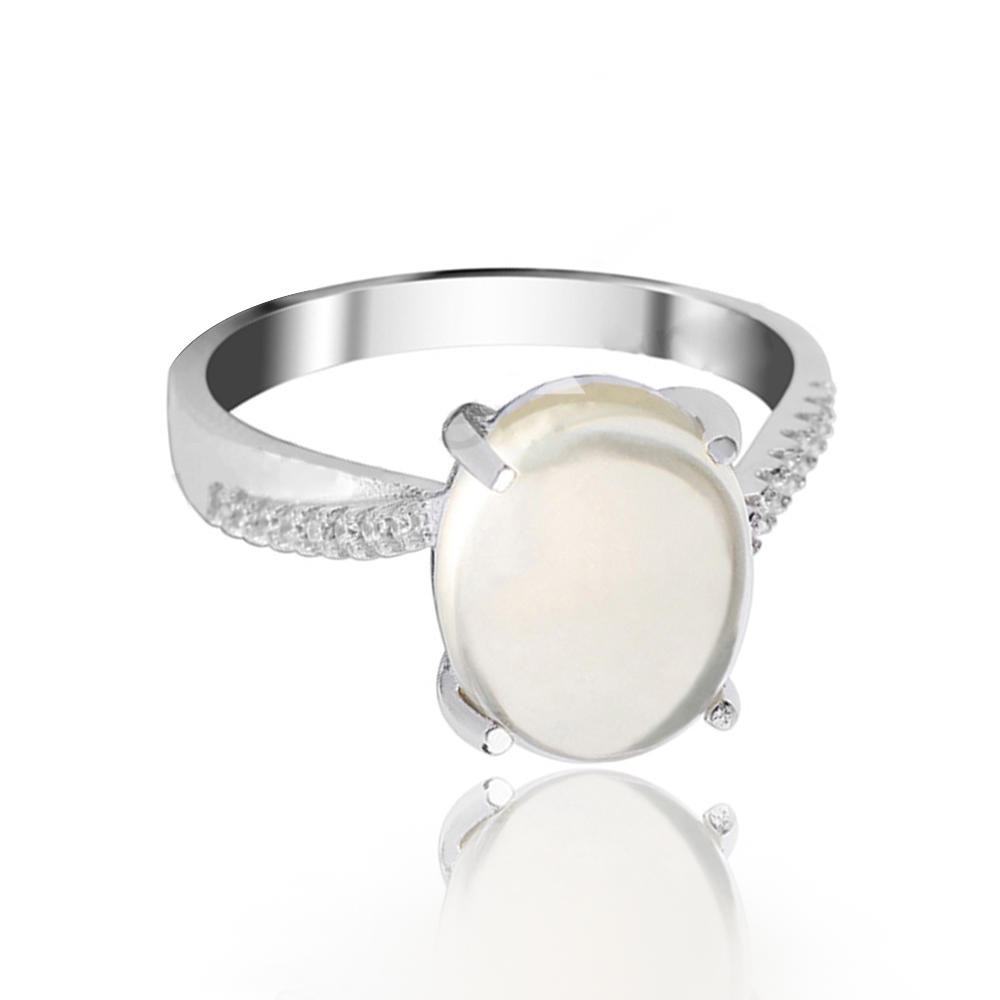 product-Sterling Silver Rhodium Plated Stone Rings-BEYALY-img-1