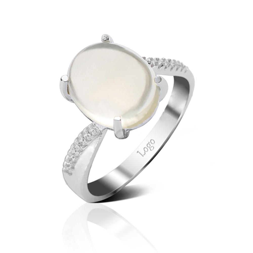 product-BEYALY-Sterling Silver Rhodium Plated Stone Rings-img