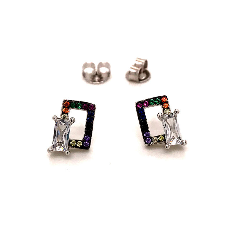 product-BEYALY-Geometric Stud Silver Jewelry Earrings for Womens-img
