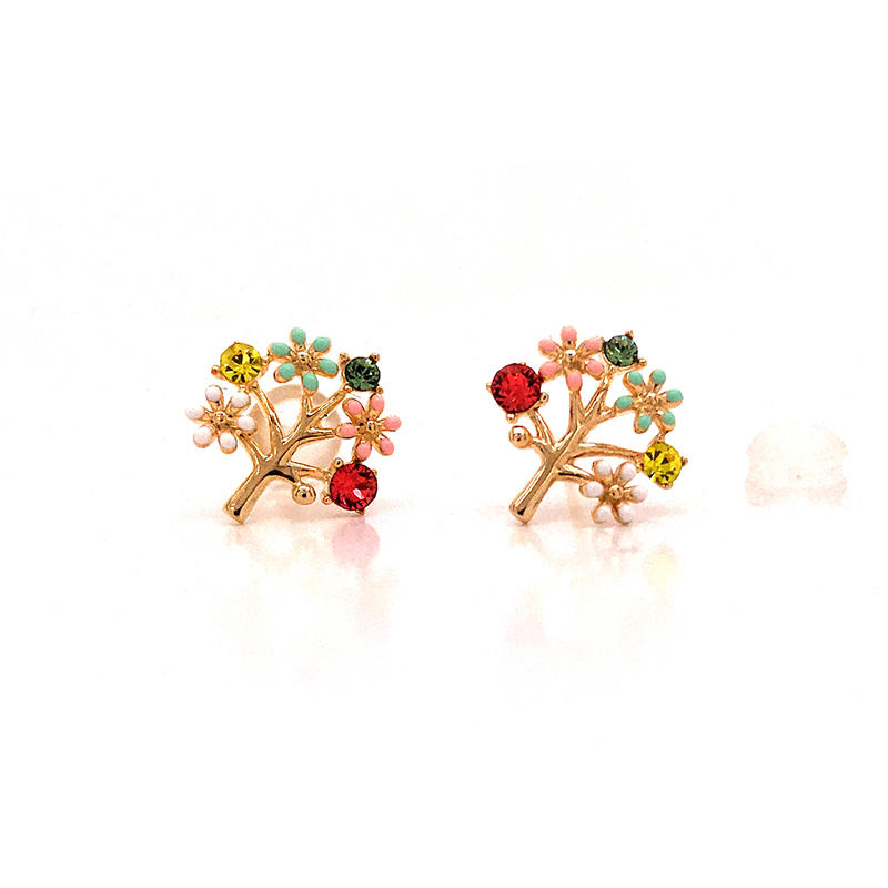 Tree Of Life 18k Gold Plated Earrings