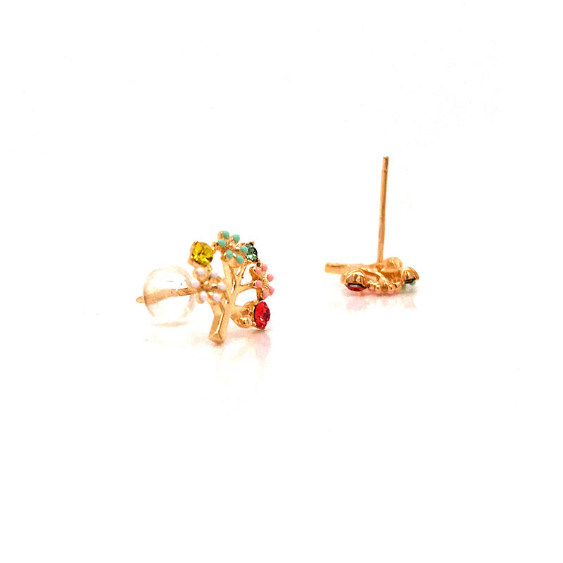 product-Tree Of Life 18k Gold Plated Earrings-BEYALY-img-1