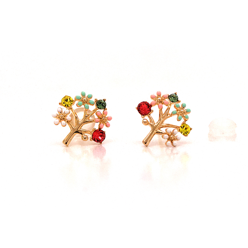 New rose gold hoop earrings sale round factory for advertising promotion-1