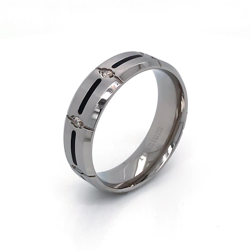simple but nice design wholesale titanium ring engagement band