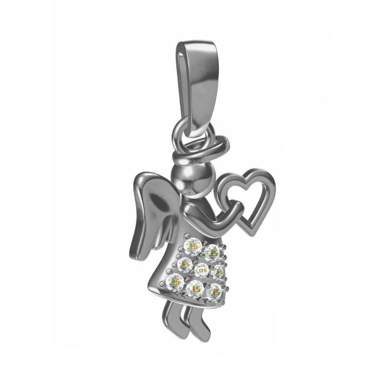High Quality silver angel pendant