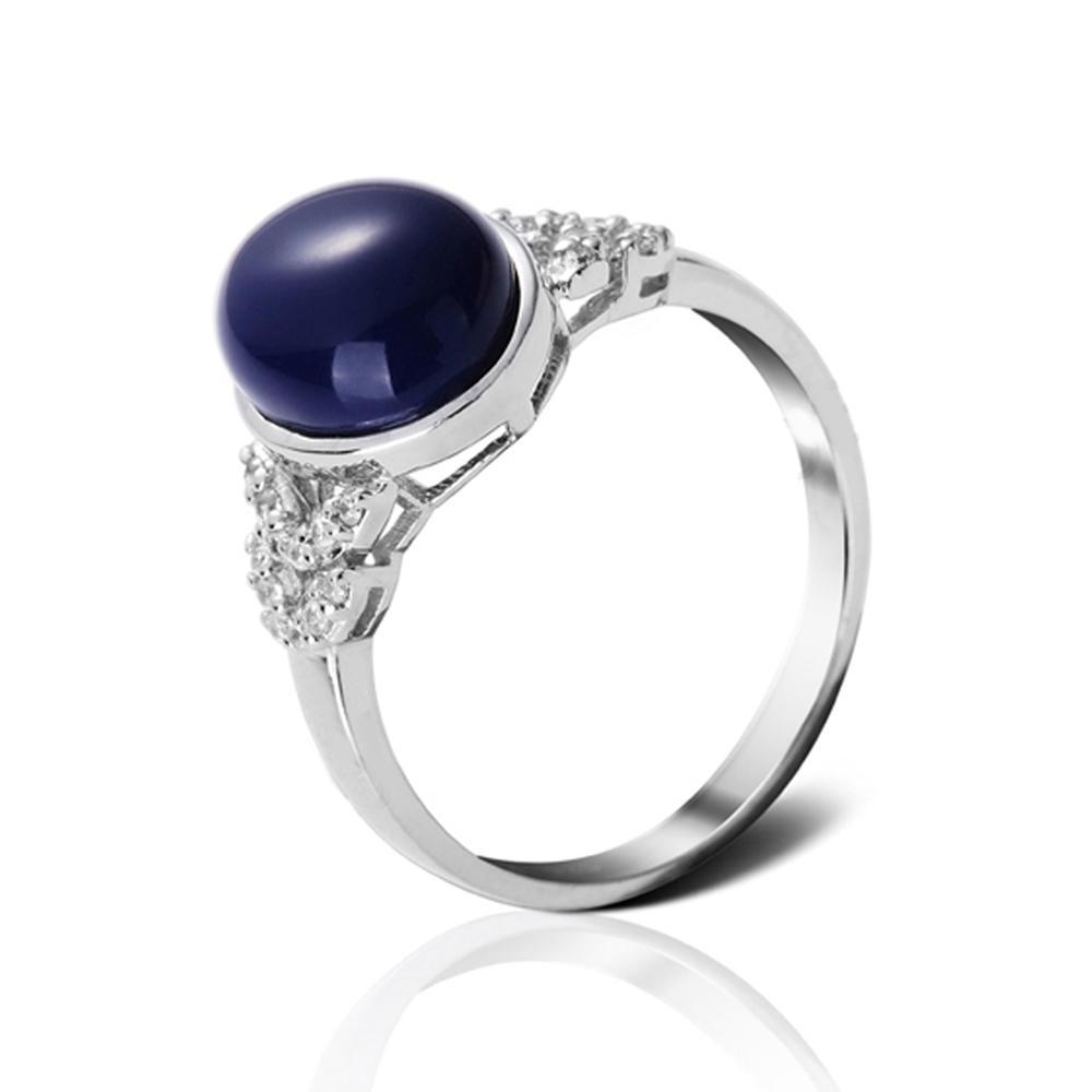 product-Big Stone Jewelry Gemstone Ring Mens Dark Blue Turquoise Ring-BEYALY-img-1