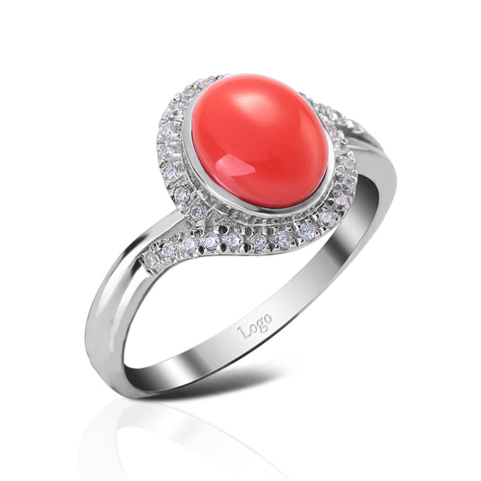 PVD plating 925 silver red agate men's wedding rings