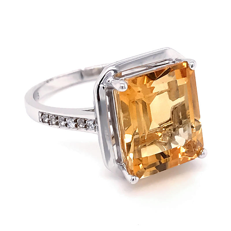 product-925 silver Asscher Cut Cubic Zirconia Halo Ring-BEYALY-img-1